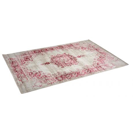 Vloerkleed Medaillon Cream Red